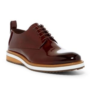 Jared Lang Patent Leather Lace-Up Shoe